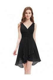 Ever-Pretty V Neck Empire Waist Hi-Lo Bridesmaids Dress 03644 - My look - $85.99