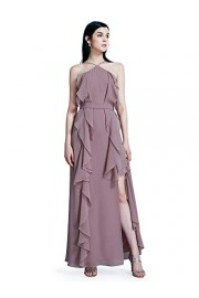 Ever-Pretty Women Fashion Halter Sleeveless Lotus Leaf Formal Dresses 07358 - My look - $65.99
