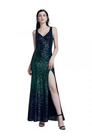 Ever-Pretty Women Fashion Sequins Floor Length Vneck Evening Dresses 07345 - My look - $89.99