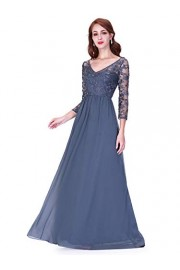 Ever-Pretty Women Illusion A Line V-Neck Long Formal Evening Dress 07633 - My look - $99.99
