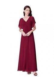 Ever-Pretty Women V Neck Long Chiffon Formal Evening Dresses with Ruffles 07421 - My look - $89.99