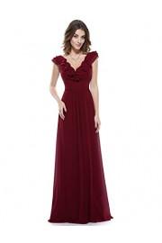 Ever-Pretty Women's Chiffon Formal Dress Burgundy Floor Length Bridesmaid Dresses 08500 - My look - $72.99