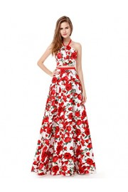Ever-Pretty Womens Elegant Floral Print Long Two Piece Wedding Guest Dresses - My look - $79.99