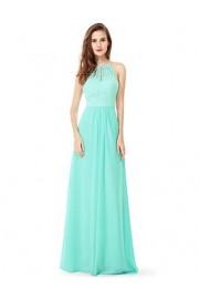 Ever-Pretty Womens Floor Length Sleeveless Jewel Lace Neckline Bridesmaid Dress 08982 - My look - $74.99