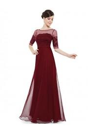 Ever-Pretty Womens Floor Length Three-Quarter Sleeve Evening Dress 08459 - My look - $85.99