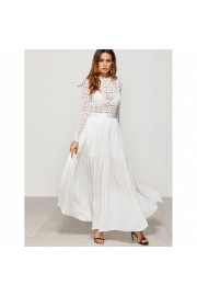 Eyelet Embroidered Lace Top Split Pleate - Laufsteg - $77.00  ~ 58.14€
