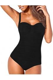 Firpearl Women One Piece Swimsuit Ruched Modest Tummy Control Swimwear - Mein aussehen - $26.99  ~ 23.18€