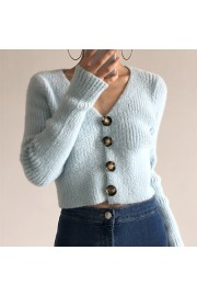 Fleece single-breasted sweater cardigan - My look - $28.99  ~ £22.03