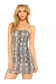 Floerns Women's Snakeskin Print Mini Cami Bodycon Dress - Moj look - $15.99  ~ 101,58kn