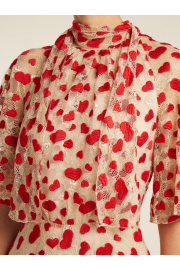 GIAMBATTISTA VALLI  Heart-embroidered ch - Mój wygląd -