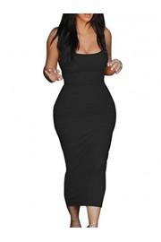 GOBLES Women's Casual Bodycon Clubwear Low Cut Elegant Pencil Tank Midi Dress - O meu olhar - $22.99  ~ 19.75€