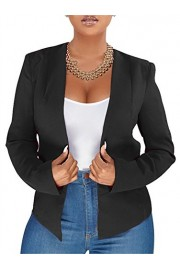 GOBLES Women's Long Sleeve Work Suit Casual Solid Club Party Blazer Jacket - O meu olhar - $55.99  ~ 48.09€