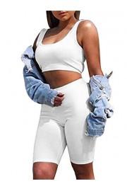 GOBLES Women's Sexy Bodycon 2 Piece Outfits Tank Crop Top Club Short Sets - O meu olhar - $35.99  ~ 30.91€