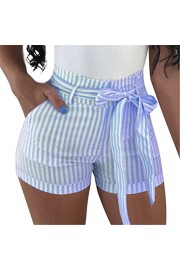 GOBLES Women's Sexy Hot Pants High Waisted Striped Casual Summer Bow Shorts - O meu olhar - $35.99  ~ 30.91€