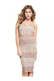 G by GUESS Women's Allie Strapless Floral Lace Midi Dress - My look - $64.99