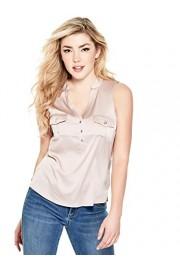 G by GUESS Women's Elsa Sleeveless Satin Shirt - My look - $34.99