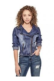G by GUESS Women's Farah Denim Moto Jacket - My look - $59.99