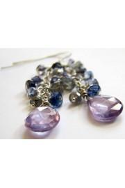 Genuine Violet Zircon Cascade Earrings - Minhas fotos - $37.00  ~ 31.78€