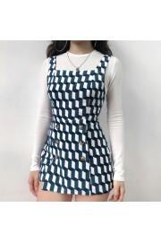 Geometric pattern retro strap skirt flat - My look - $35.99