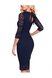 GlorySunshine Floral Lace Back Strap Bodycon Cocktail Party Dress for Women - Moj look - $10.99  ~ 69,81kn