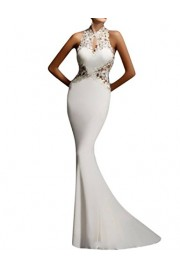 GlorySunshine Women's Sheath Sexy Lace Backless Mermaid Bridal Flare Dress - Myファッションスナップ - $31.99  ~ ¥3,600