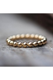 Gold Bubbles Wedding Band, Gold Beads We - My photos -