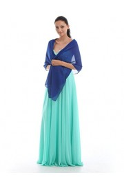 GownTown Women`s Chiffon Bridesmaid Shawls Beaded Wedding Scarves - My look - $3.99