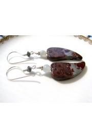 Grey Moonstone Brown Jasper Earrings - Minhas fotos - $26.00  ~ 22.33€
