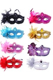 Half Masquerades Venetian Masks Costumes Party Accessory 8 Different Colors - O meu olhar - $12.99  ~ 11.16€