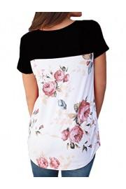 Halife Women's Floral Print Criss Cross Front Short Sleeve T Shirts Blouses Tops - Moj look - $19.99  ~ 126,99kn