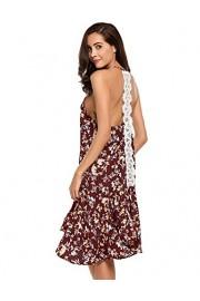 Halife Women's Sexy Flowy Open Back Backless Summer Swing Lace Mini Dress w/Ruffle Hem - Moj look - $6.99  ~ 44,40kn