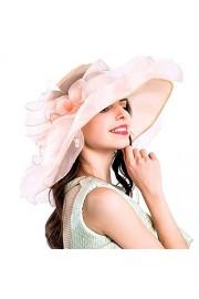 Harmony Life Women Foldable Organza Church Derby Hat Ruffles Wide Brim - Mi look - $10.99  ~ 9.44€