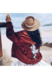 Heavy embroidery embroidered wine red ja - My look - $29.99