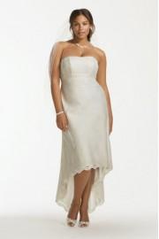 High-low wedding dress (David's Bridal) - My look -