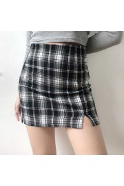 High waist classic black and white plaid - My look - $25.99