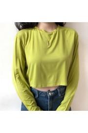 High waist short section navel T-shirt - My look - $25.99
