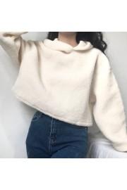 Hooded Turtleneck Sweater Female Furry L - My look - $35.99