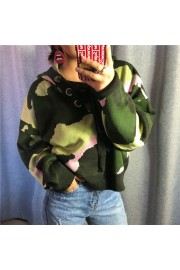 Hooded camouflage printed knit sweater - Moj look - $49.99  ~ 42.94€