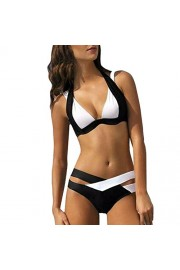 Hot,Yang-Yi Fashion Womens Casual Swimsuit Swimwear Swim Beach Wear Print Bandage Swimsuit - My look - $7.98