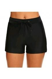 Hotouch Womens Board Shorts Swimming Trunks Swimwear High Waisted Bikini Bottom with Pocket S-XXL - My look - $4.98