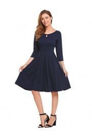 Hotouch Women's Short Sleeve A Line Swing Dress Slim Fit and Flare Pleated Cocktail Party Dress - My look - $9.99