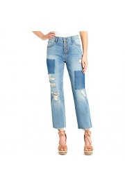 Jessica Simpson $80 Womens 1757 Light Blue Distressed Patch Jeans 27 Waist B+B - Myファッションスナップ - $15.00  ~ ¥1,688
