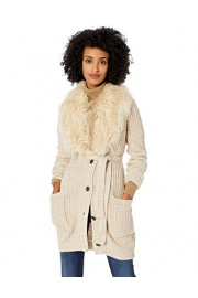 Jessica Simpson Women's Annie Faux Fur Collar Cardigan Sweater - Myファッションスナップ - $55.00  ~ ¥6,190