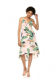 Jessica Simpson Women's Shana Printed High Low Tie Front Midi Dress - Myファッションスナップ - $45.48  ~ ¥5,119