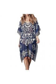 LA PLAGE Women's Chiffon Bohemian Printed Swimsuit Cover Ups - My look - $16.99