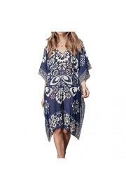 LA PLAGE Women's Chiffon Bohemian Printed Swimsuit Cover Ups - My look - $16.99