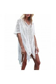LA PLAGE Women's Crochet Loose Knitted Swimsuit Cover Ups - My look - $17.99