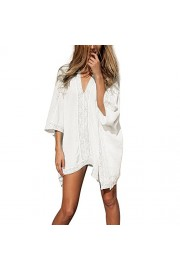 LA PLAGE Women's Loose Knitted Swimsuit Cover Ups - My look - $17.99