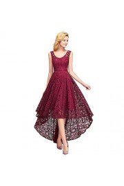 Lace Dresses for Wedding Guest, Hi-Lo Cocktail Bridesmaid Dress for Women - Moj look - $36.99  ~ 31.77€