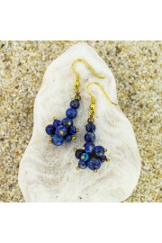 Lapis Lazuli Earrings - Myファッションスナップ -